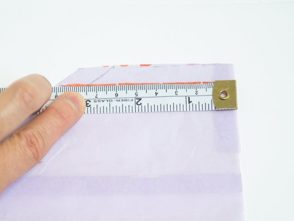 measuring back seam on raglan top