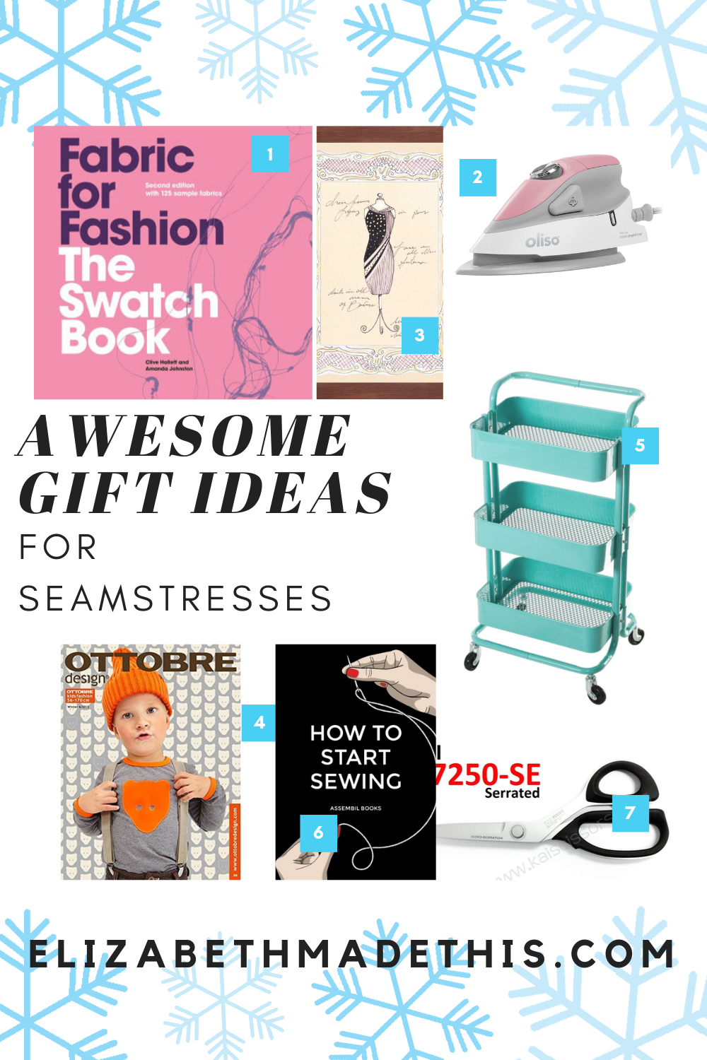 "Pinterest image ""awesome gift ideas for seamstresses"""