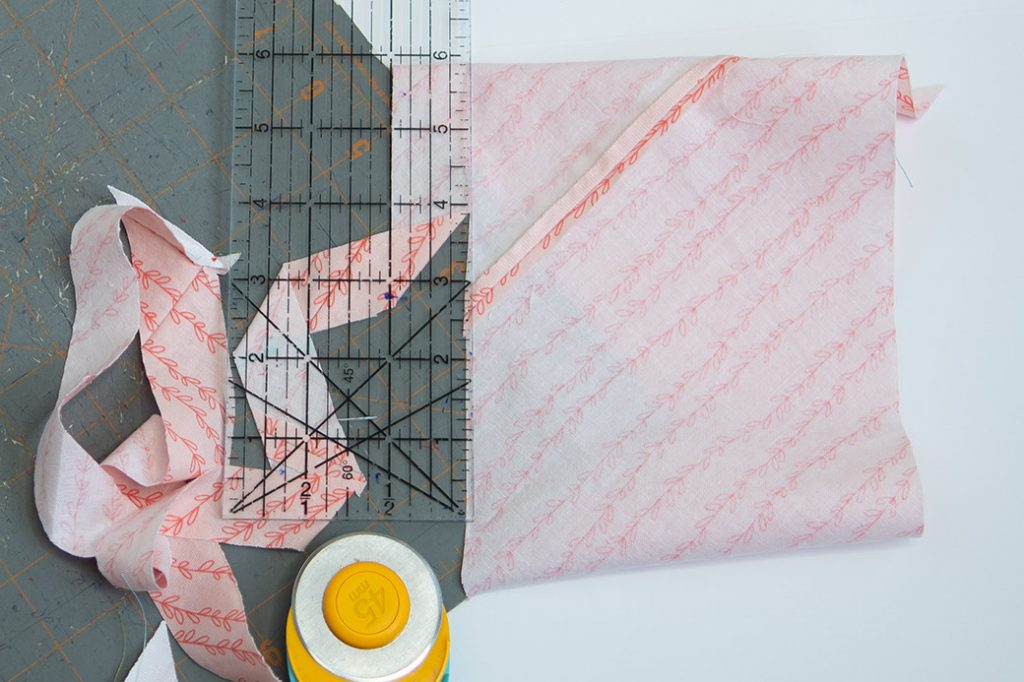 cutting bias tape with rotary cutter