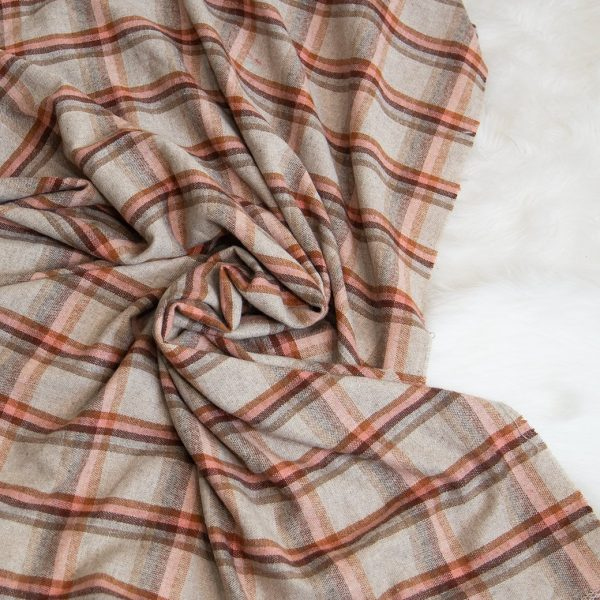 wool plaid fall fabric