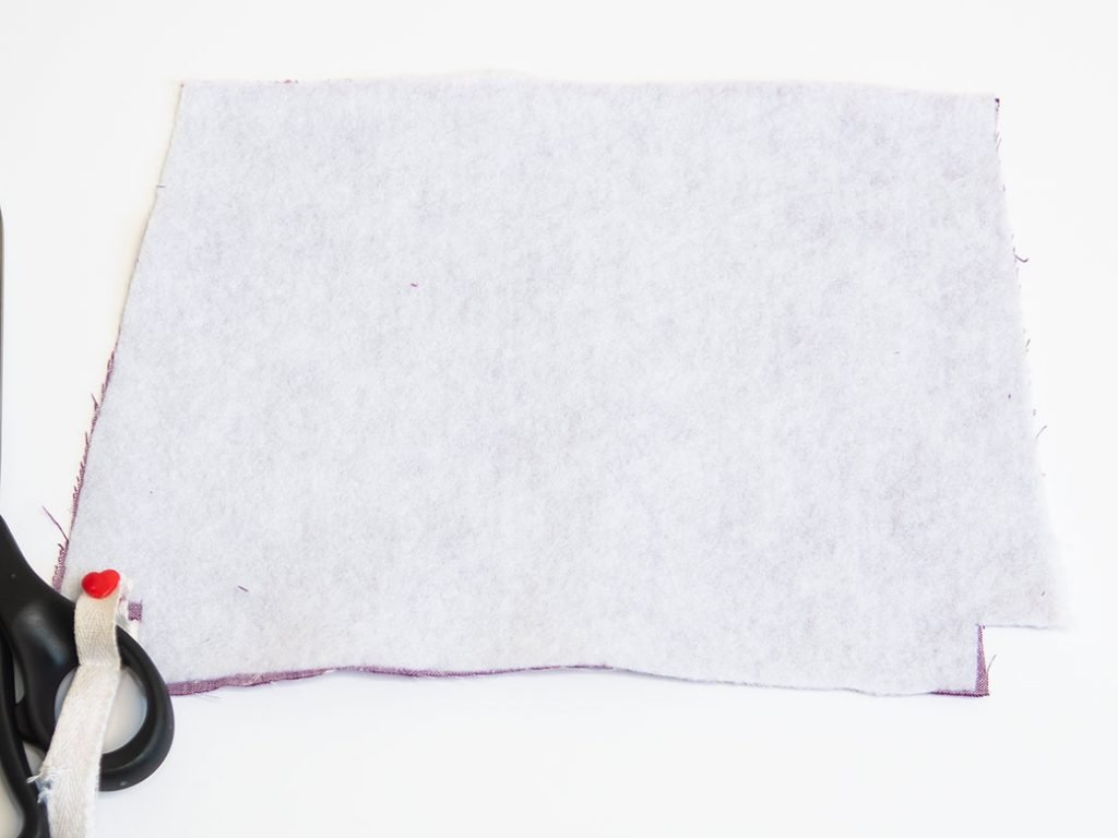 fuse fusible fleece to the wrong side
