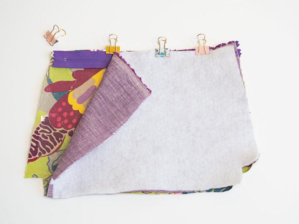 zipper sandwich on a DIY waterproof zipper bag