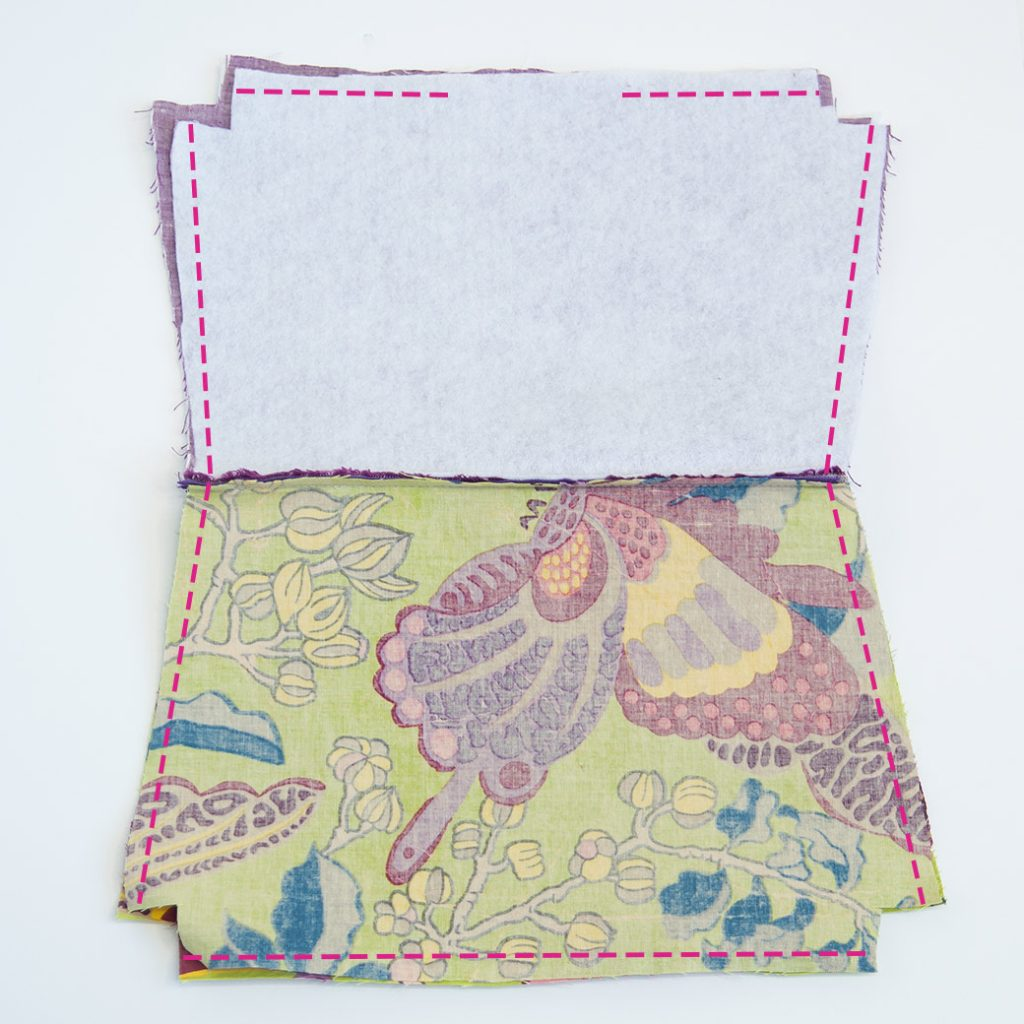 sewing sides and bottom of a DIY waterproof zipper bag
