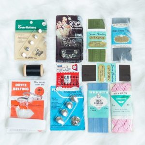 sewing supplies at thrift stores: vintage notions