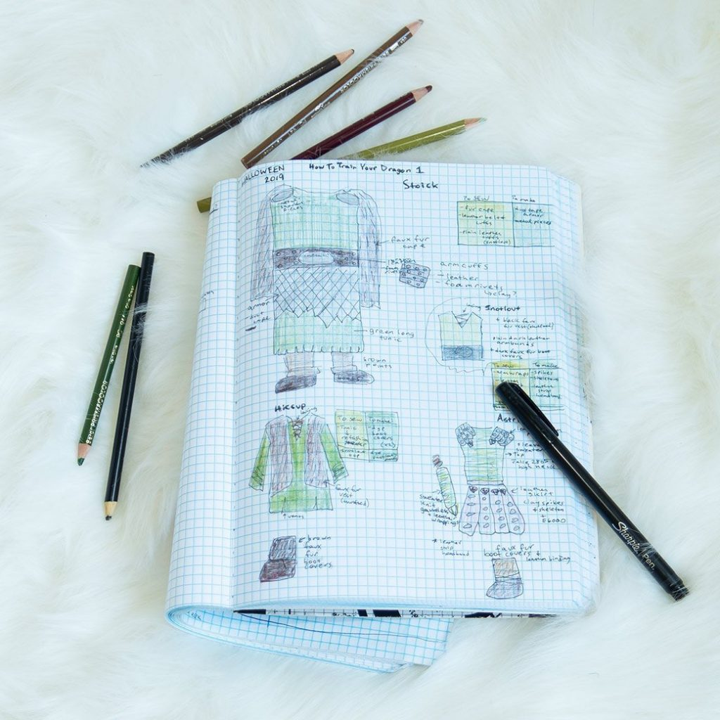 sewing with a plan: sewing project sketch with pencils