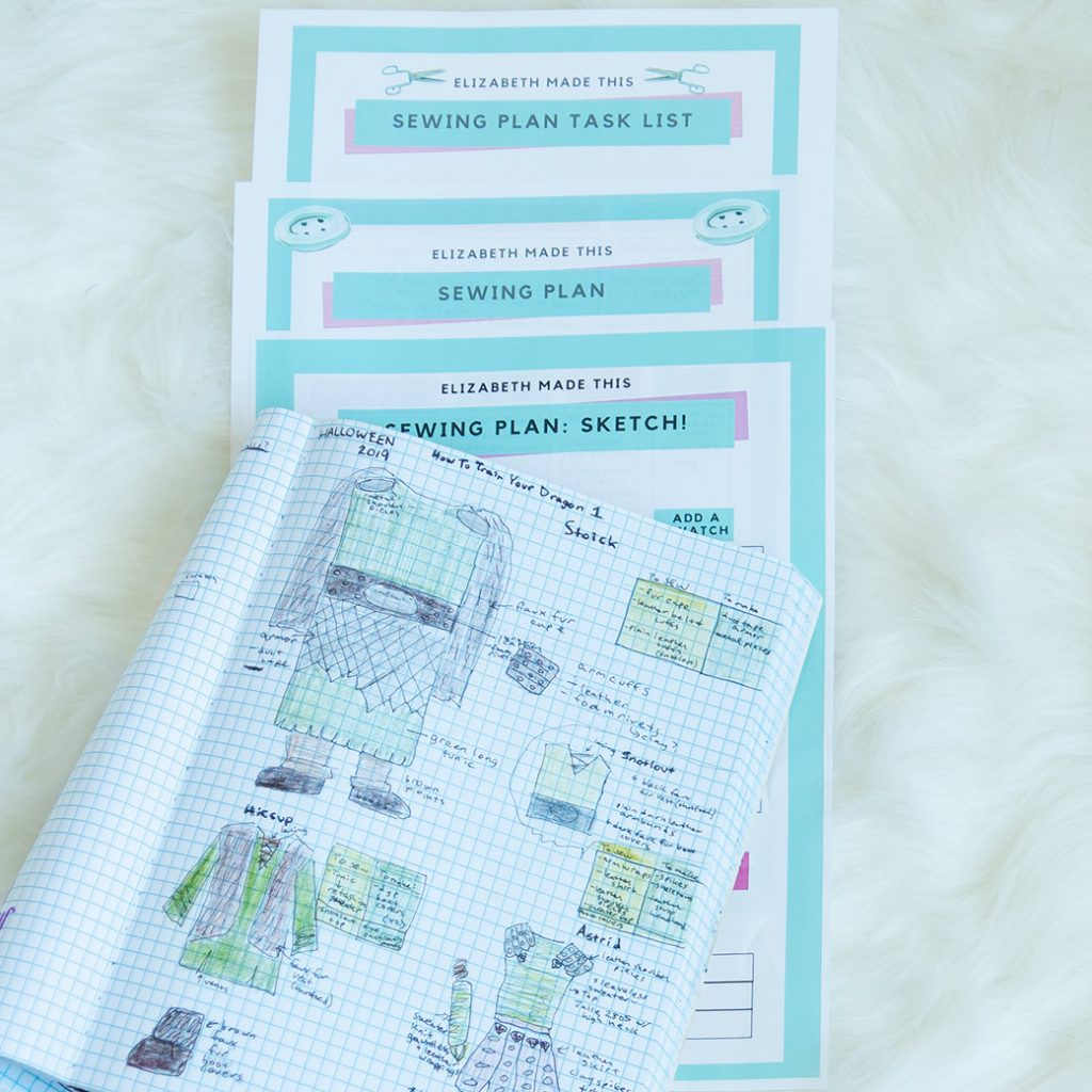 sewing with a plan: sketches and sewing planner printable