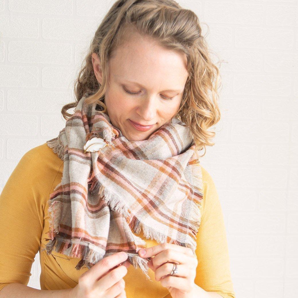 Double fringe scarf