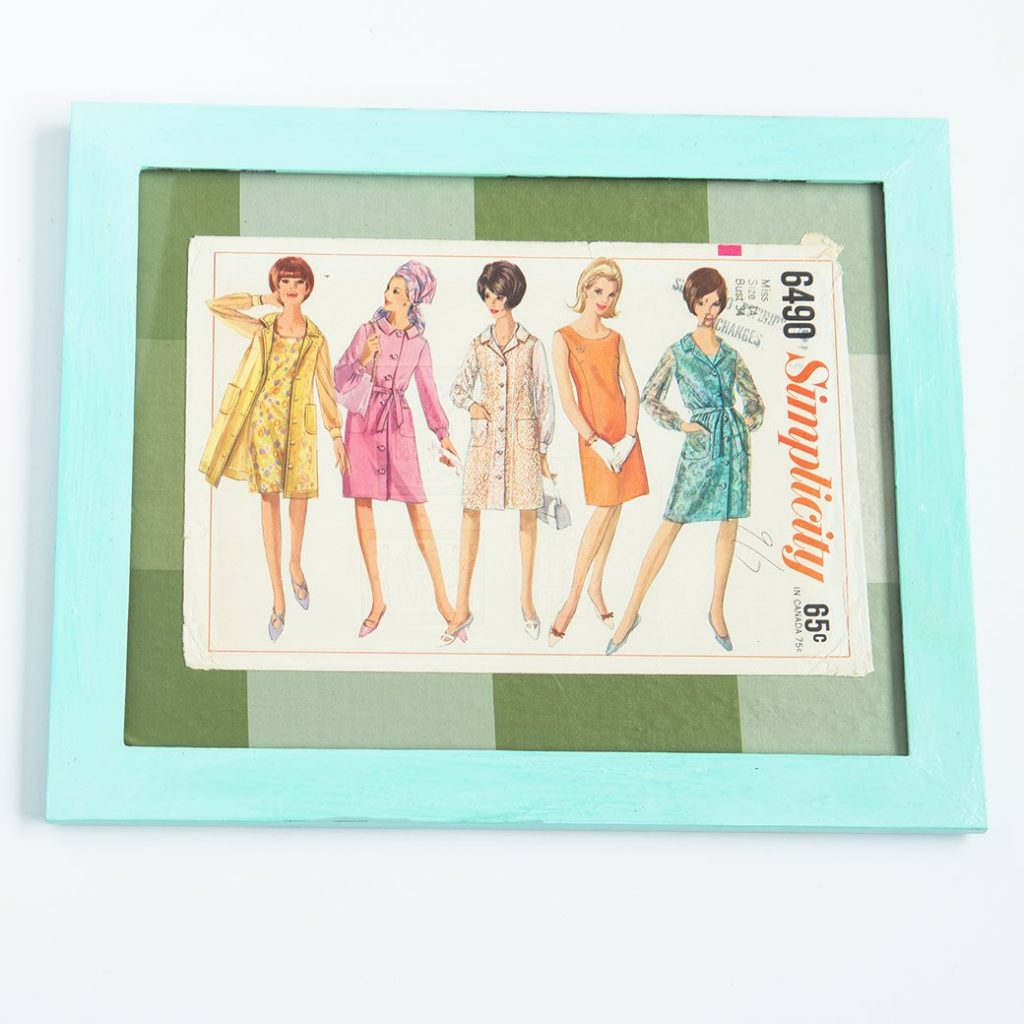 vintage sewing pattern sewing room decor