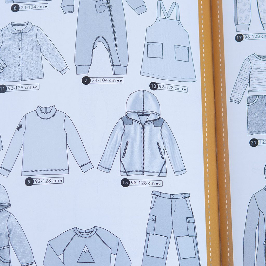 how to use sewing pattern magazines: line drawing