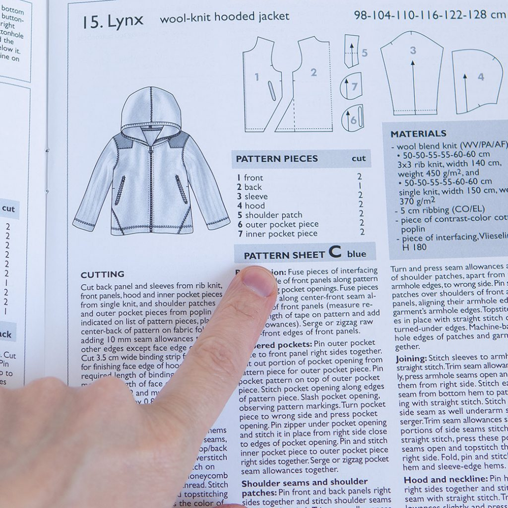 how to use sewing pattern magazines: finding the pattern sheet