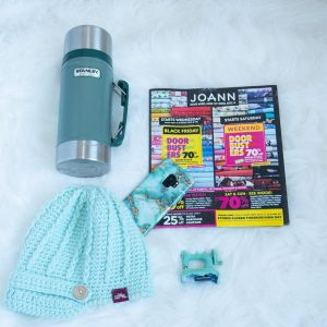flatlay with essentials for Black Friday at JoAnn