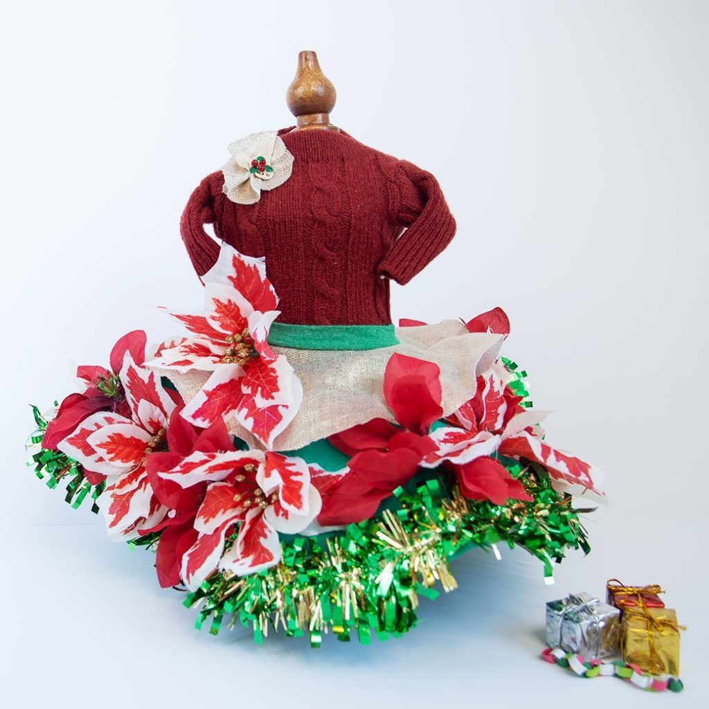 mini Christmas dress form and mini Christmas ornaments