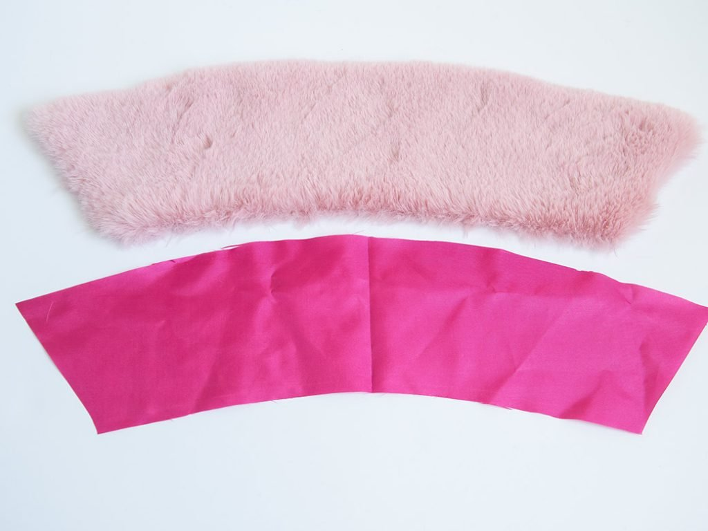 cut pieces for how to make a detachable fur collar