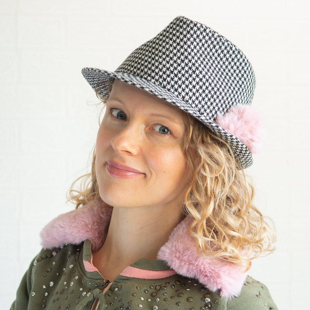 faux fur pom pom on hat