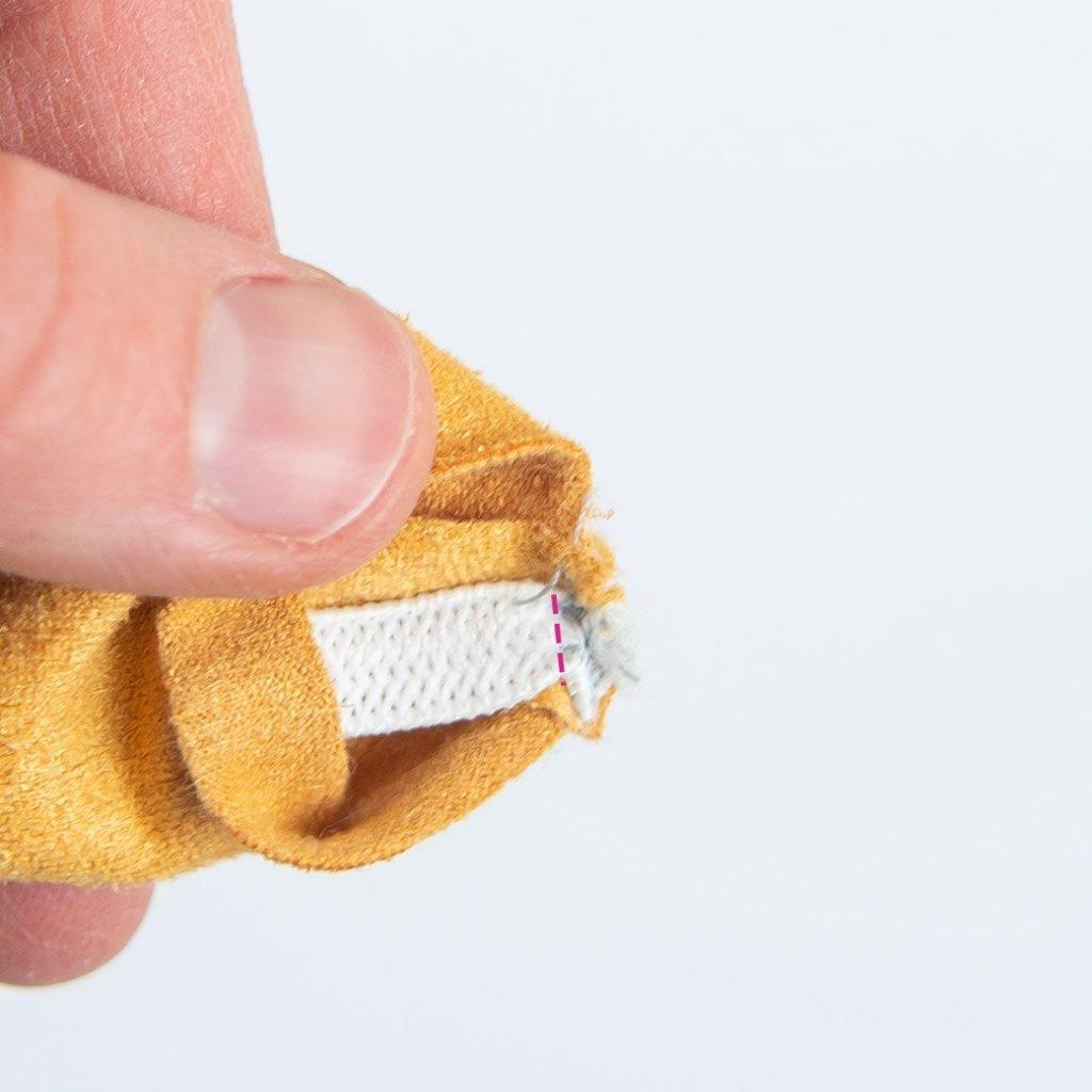 stitch elastic inside scrunchie