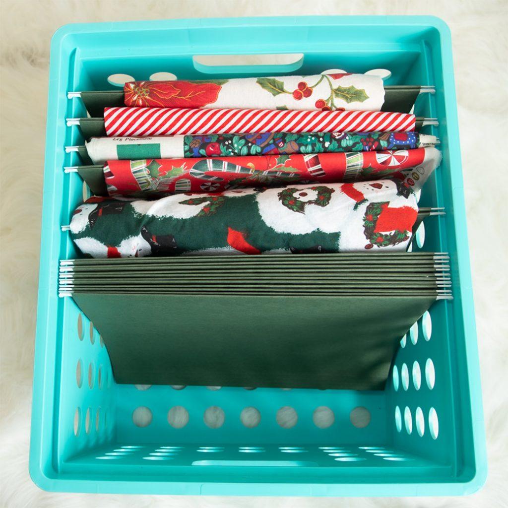 fabrics filed in crate