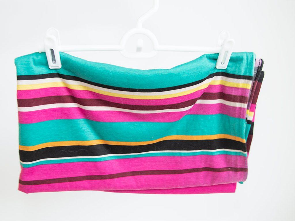 fabric on hanger