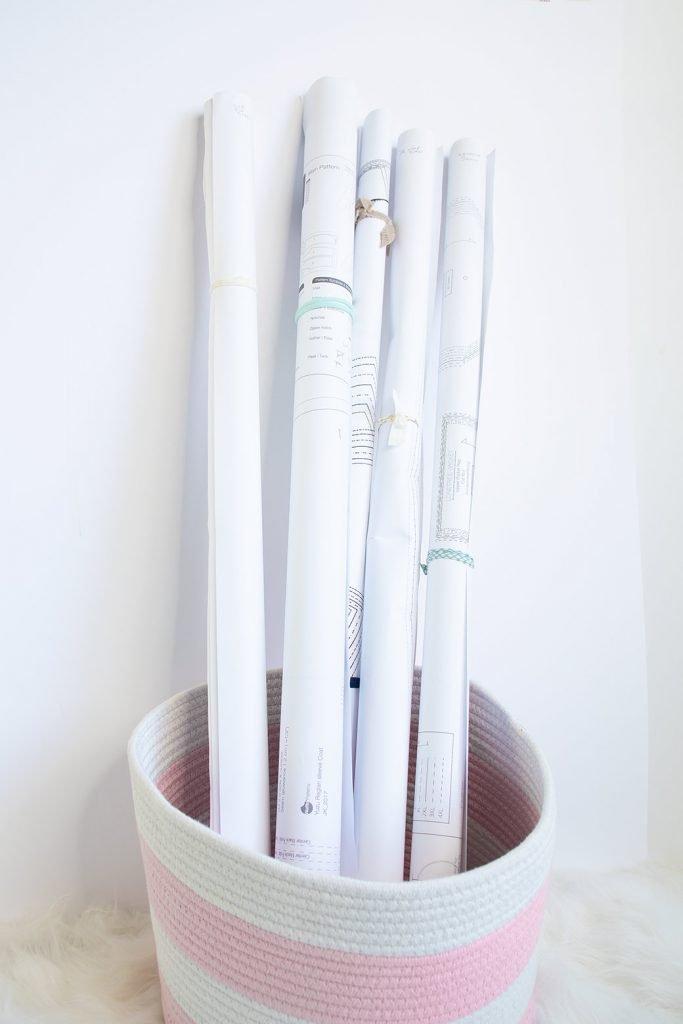 pdf patterns stored in basket