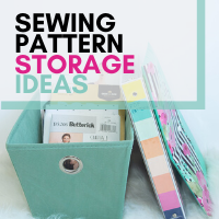 Sewing pattern storage ideas