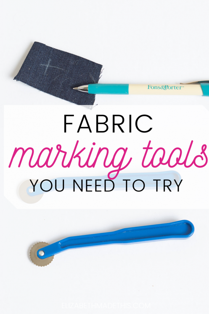 Tools for marking fabric