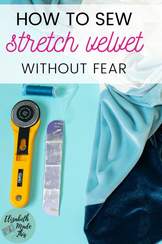 How to sew stretch velvet without fear