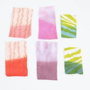 overdyeing fabric swatches