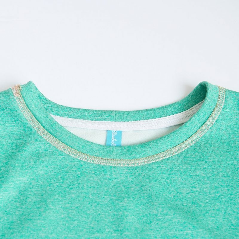 neckline on fleece top