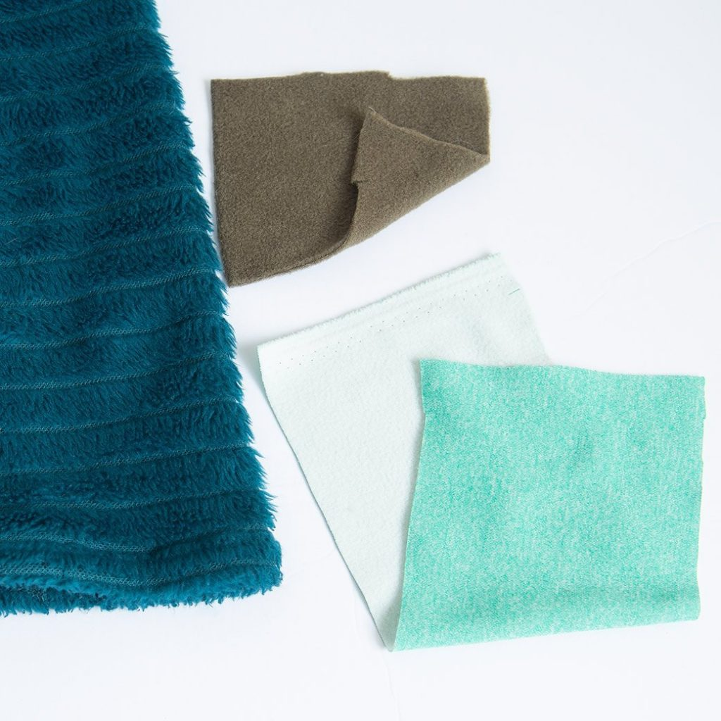 fleece fabric samples