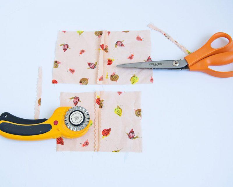 pinking shears vs. pinking rotary blade