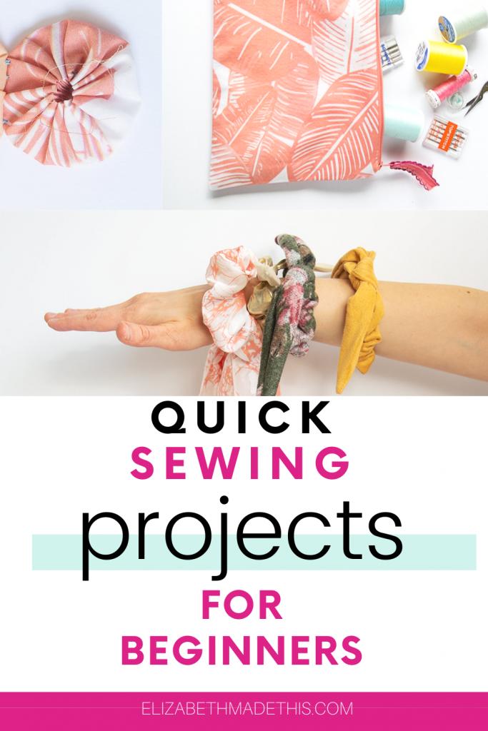 fabric yoyo, DIY zipper bag and scrunchies