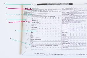 pattern envelope back