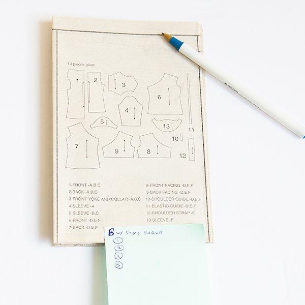 sewing pattern diagram
