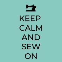 keep calm and sew on graphic