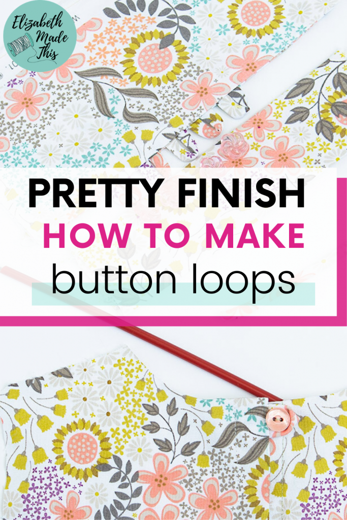 button loops on neckline and series of button loops
