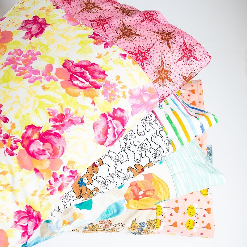 stack of pillowcases