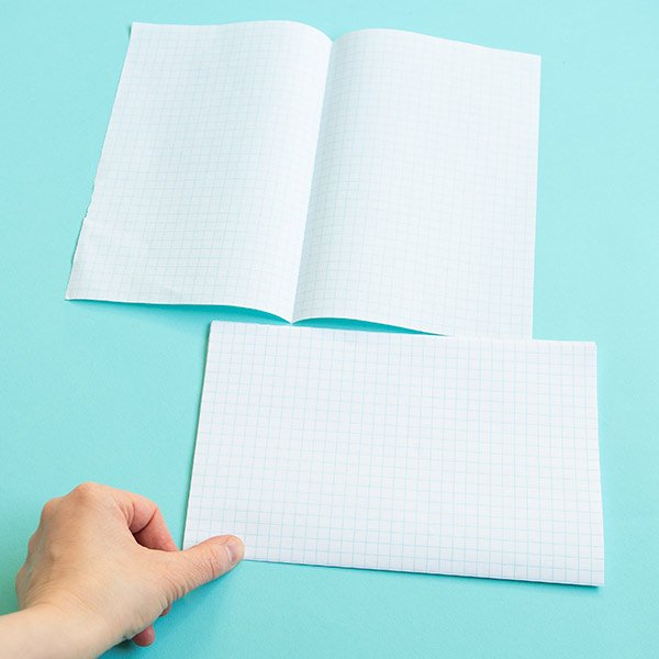 how to make a notebook: folding paper
