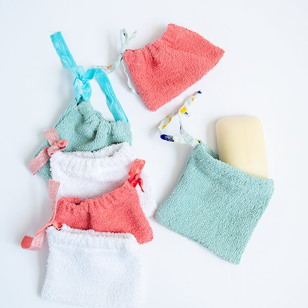 washcloth drawstring bags