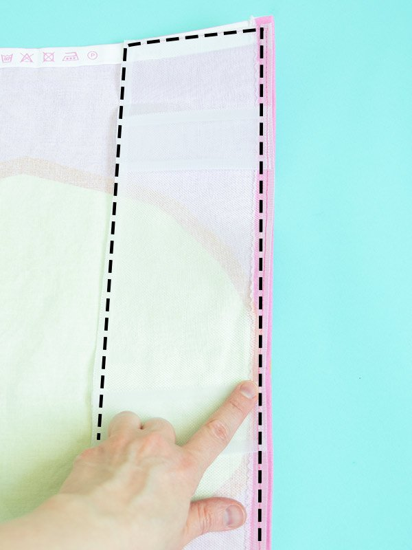 how to sew curtains with header tape