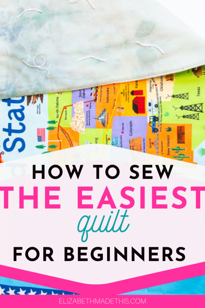 Pin image: how to sew a quilt for beginners