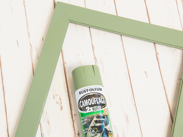spray painted frame