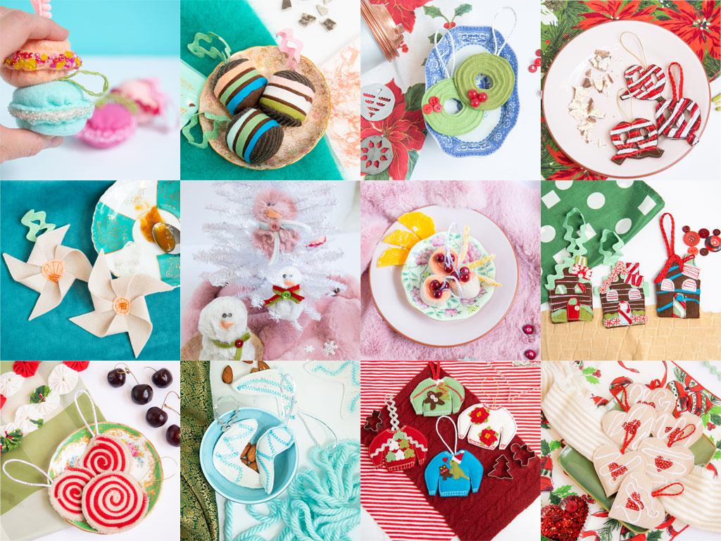 fabulous felt Christmas cookies collage