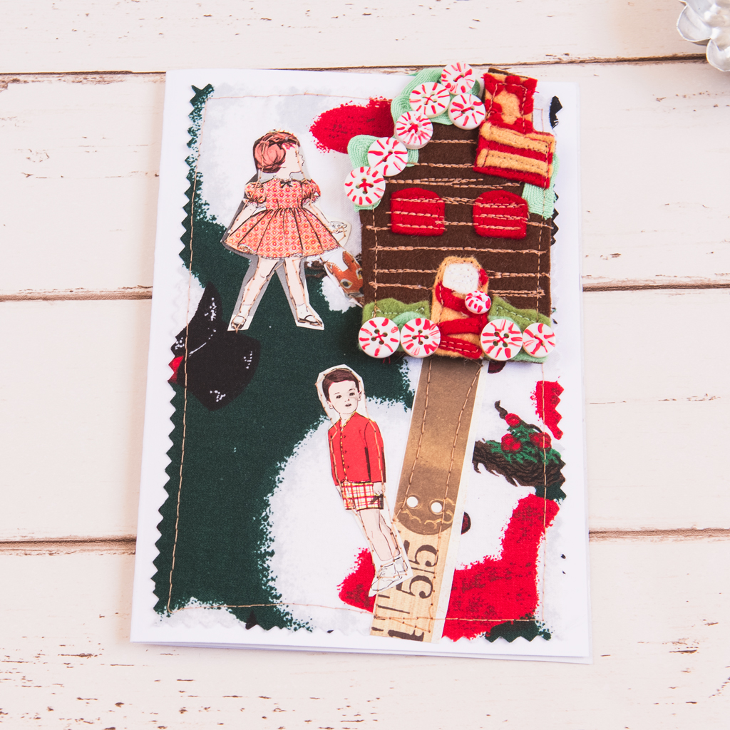 DIY Christmas card with handmade ornament
