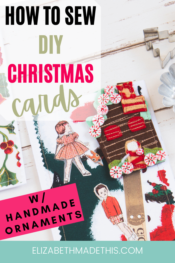 DIY Christmas card with removable handmade ornament