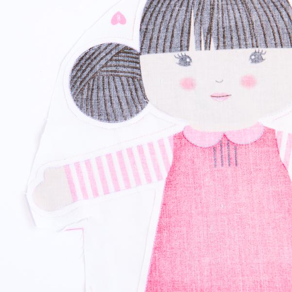 DIY doll, stitched