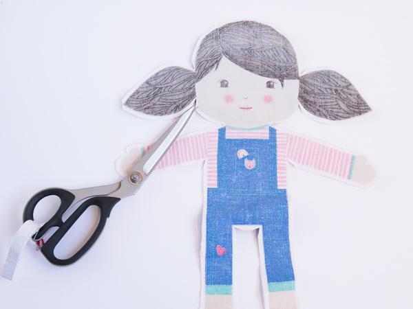 clipping a DIY doll