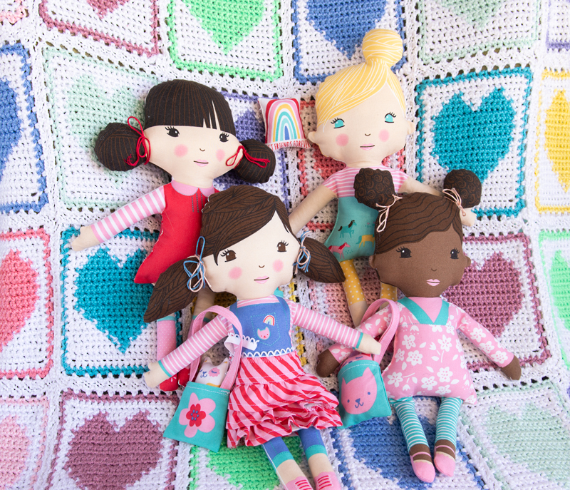 DIY dolls made from doll panels