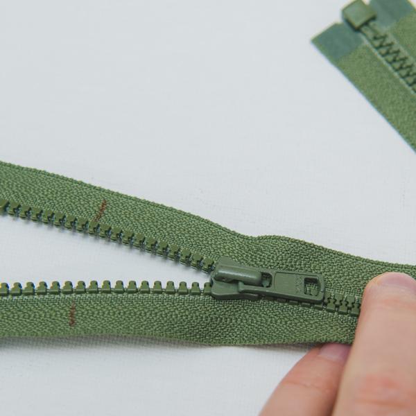 mark separating zipper for shortening