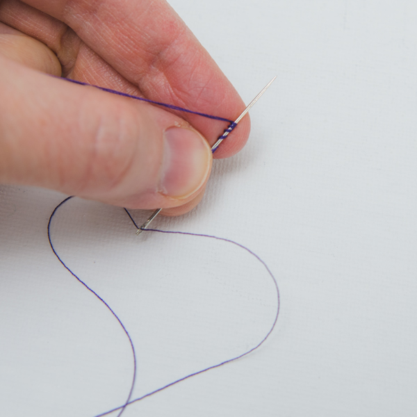 tie knot in thread