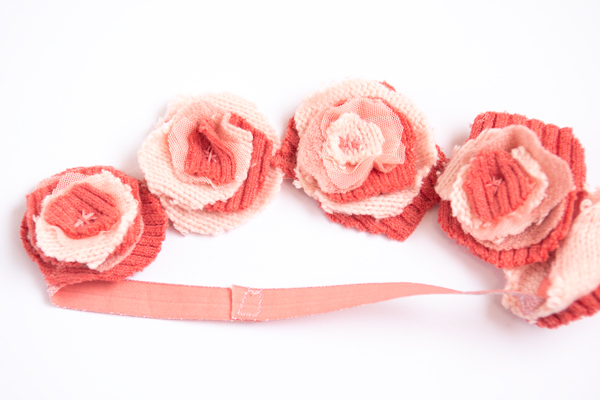embroidered fabric flowers