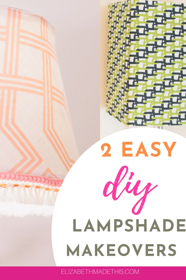 2 must try DIY lampshade makeovers